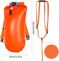 2021 오렌지 빛 무게 수영 부표 드라이 백 또는 오픈 워터 고품질 PVC 접이식 수영장 팽창식 보관 가방