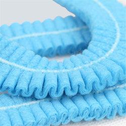 Protezione pieghettata a gettare del coperchio dei capelli dell'acquazzone del pattino non tessuto della Anti-Polvere