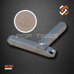Herramientas de diseño de joyas símbolo de sello de metal S053 El diseño de anclaje de perforación Metal
