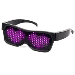 Óculos Rave Exibir personalizar mensagens piscantes animações APP Bluetooth luminoso LED programáveis Copos