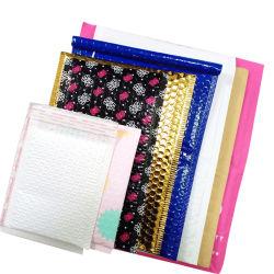 Mate personalizado el papel de aluminio de plástico de burbuja bolsas Zipper de sobres de correo Express