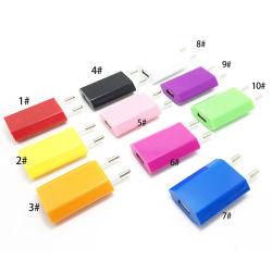 Универсальный ЕС США Плоский куб Mini USB стены переходную пробку дома дорожное зарядное устройство Power 1 в 5 В для мобильных смартфонов 4s 5s 5c Android S3-S4 E сигарный