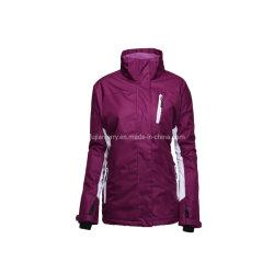 여자의 겨울 온난한 옥외 산 방수 스키 재킷