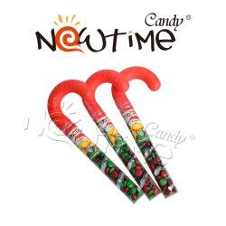 NTB06019un mélange coloré de haricots bonbons de chocolat de canne de Noël