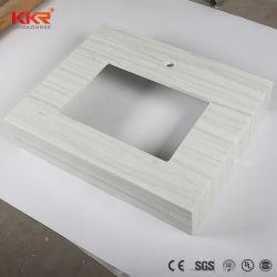 Acrílico mármol Polystone prefabricados moderna superficie sólida sobre la encimera de la vanidad de baño