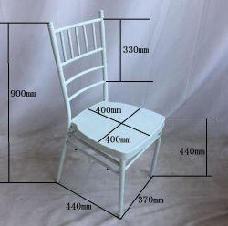 Preço baixo Charivari empilháveis moderno casamento branco Cadeira de ferro de aço de metal de alta qualidade Hotel Restaurant Chiavari Presidente