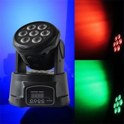 Светодиодная подсветка RGB трубы DMX 7ПК*10W перемещение головки Лампа Mini Перемещение ручного головки блока цилиндров