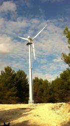 Su uso en casa de 10kw de tono de eje horizontal de control de las hojas de sistema generador de turbina de viento / Generador Magnent permanente / Molino de viento / Alternador (on-grid/ off-grid)