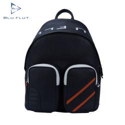 Fashion Custom Brand Name Full Grain Leather Rucksack mit Taschen