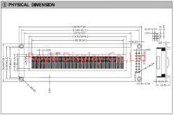 24X2 LCD van het karakter het Scherm, MCU met 8 bits, de Module van FSTN LCD, MAÏSKOLF LCM (RYP2402A)