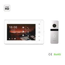 Écran tactile de sécurité à domicile de la mémoire vidéo HD IPS Door Phone Intercom