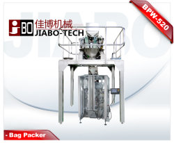Água peptonada tamponada520 Saco Grânulo máquina de embalagem com Pesador Multi-Heads