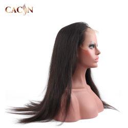 100 نسبة مئويّة [هومن هير] [أفرو] [أمبر] مجعّد شريط جبهة 3/4 لمة مادّة اصطناعيّة شعر