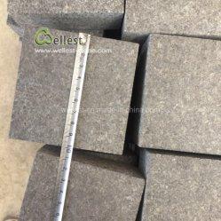 O melhor preço escuro em granito preto todos os lados Split Pavimento pedra para caminho de acesso