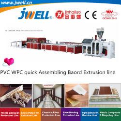 Jwell - ПВХ WPC Wood-Plastic Быстрая Сборка настенной панели|плата переработки пластиковых профилей решений экструзии машины для потолка|дверной рамы|рамы окна|звукоизоляцией