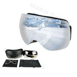 2018 Venta caliente estilo Imán de doble capa de gafas de esquí de Ski Snowboard gafas de visión amplio Anti-Fog gafas de esquí