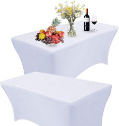 伸張のスパンデックスのテーブル掛け、合われた長方形のテーブルクロス