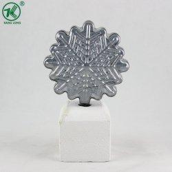 Noël Accueil décorations en verre Plateed neige avec base blanche