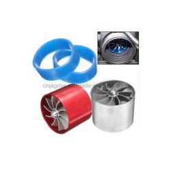 Universal 64.5mm X 50mm Filtro de aire coche Ventilador de admisión de ahorro de Gas Combustible Supercharger de la turbina del turbocompresor el turbocompresor