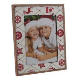Joyeux Noël Flat-Face Cadre Photo en métal
