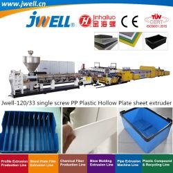 Jwell-120/33 sondern das hohle Platten-Plastikblatt der Schrauben-pp. aus, das Strangpresßling-Maschine für mehrfachverwendbare Behälter-Kiste herstellend aufbereitet|Schindel-Schutzträger flechten