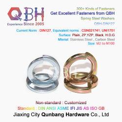 Qbh DIN 127 um B Yzp com zíper preto de alta qualidade HDG zinco-carbono aço inoxidável ASTM F436m Planície plana / Arruela