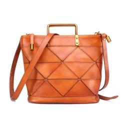 حقيبة يد كتف من الجلد الطبيعي للنساء البقرة للسيدات