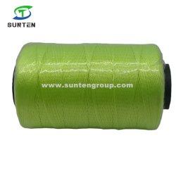 Groen Hoge vasthoudendheid PE/PP/Polyester/nylon kunststof gedraaide/gevlochten/balenpers/schroefdraad/verpakkingslijn/visnet schroefdraad 210d/380d Door spoel/haspel/Bobbin/schacht