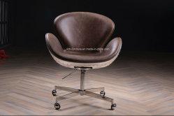 Swan silla de cuero Vintage