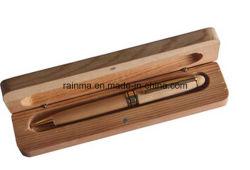 L'alta penna di sfera di legno del metallo di Qualiy ha impostato per il regalo di affari