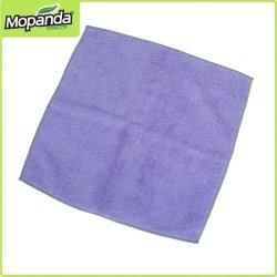 Горячая продажа фиолетового цвета на площади из микроволокна полотенце очиститель кухонное полотенце