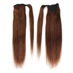 Cheveux humains naturel brut queue de cheval l'extension 100g Full Queue de Cheval perruque de cheveux brésiliens Clip Queue de Cheval Xu Chang Bhf sèche