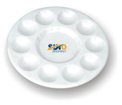 Tavoletta rotonda in plastica 10 pozzetti per pittura/studente /Bambini/artista