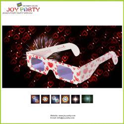 Специализированные печатные бумаги 3D фейерверк дифракционного картонных очках