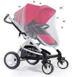 شبكة البعوض الشاملة، شبكة حشرة الحشرات للأطفال الرضع لكراسي دفع عجلات الأطفال ذات عجلات بالرضع مع غطاء حماية من الحواف المطاطي لحبل كرسي السيارة من Cat Buggy Carryco