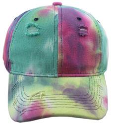 Nuevo estilo de gradiente de la moda Vintage coloridos lavar angustiados roto Multicolor TIE DYE Papá Hat
