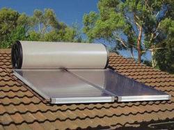 نظام الطاقة الشمسية عالي الضغط سعة 400 لتر ذو اللوحة المسطحة صغيرة الحجم ماء المدفأة
