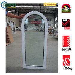 Doppeltes glasig-glänzendes gebogenes Plastikwindows, UPVC Verlegenheits-Fenster