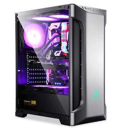 Geval van het Gokken van de Computer van PC van de Strook van het ZijComité ATX van het Glas van Seegotep het Zack Aangemaakte RGB