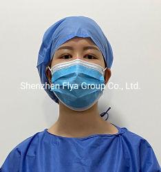 カスタム人の45g SMSのNonwoven病院のBouffant保護隔離の外科医は医者および看護婦のためのヘッドカバー卸売の医学の帽子の使い捨て可能な外科帽子をごしごし洗う