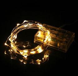 3AA bateria operada LED Copper Wire String Lights