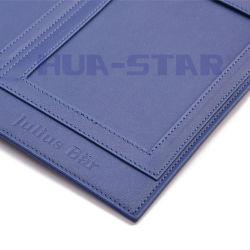 Kundenspezifischer Firmenzeichen-Leder-Foto-Rahmen als förderndes Geschenk (HS-T503)