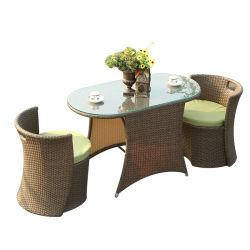 Weidengarten stellt PET Rattan-Stuhl-Kaffeetisch-im Freienmöbel ein