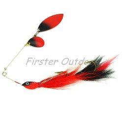 Musky Spinnerbait Hbkm04 21cm36g en acier inoxydable Bucktail Wirebait leurre de pêche
