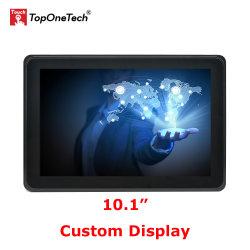 OEM ODM Custom de bastidor abierto de 10,1 pulgadas capacitiva proyectada Pcap del Sensor de pantalla táctil con pantalla táctil Multi LCD TFT Monitor LED de bajo coste sin MOQ NRE
