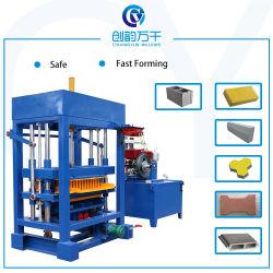 preço de fábrica4-30 Qt Manual Hidráulico concreto Diesel Pavimentadora de cimento máquina para fazer blocos para pequenas indústrias de Escala