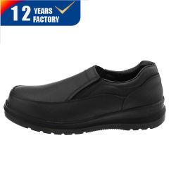 Защитная обувь управления Защитная обувь из натуральной кожи черного цвета обувь стальным носком