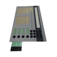 OEM texturé dôme en métal de fenêtre transparente interrupteur à membrane clavier