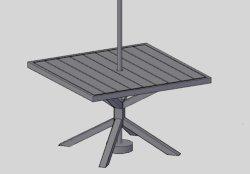 La mobilia esterna del giardino batte giù pranzando la Tabella di alluminio di Polywood (73417)