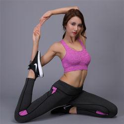 Yqx-W8C-6 de las mujeres OEM Traje Sport Yoga ejercicios conjuntos de sujetador de Deporte Pantalones de yoga gimnasio entrenamiento deporte correr conjunto polainas